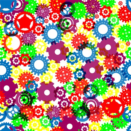 Color-full Seamless gears Vector