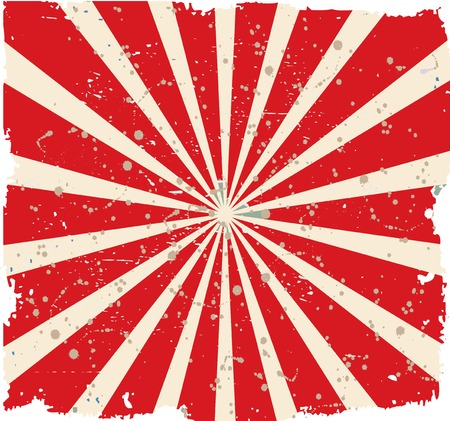 tatty: Vintage faded background. Retro red and yellow stripes