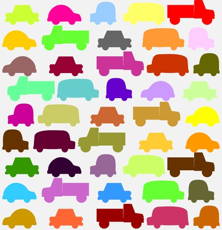seamless pattern with colorful little cars art Vector