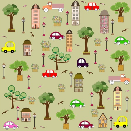baby vehicle pattern design. vector illustration art Vector
