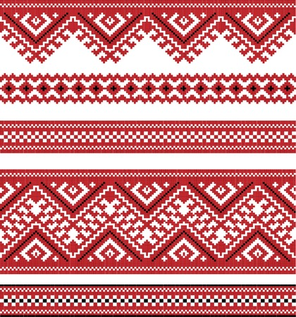 gestickt: rote Farbe bestickt gut wie handmade Illustration