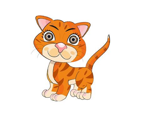 purring: Cat illustration