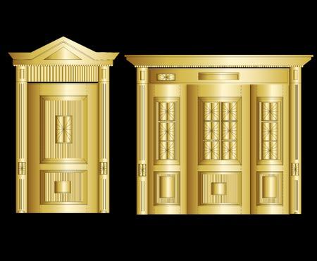 depository: Golden Vault Door. Vector Illustration art cute Illustration