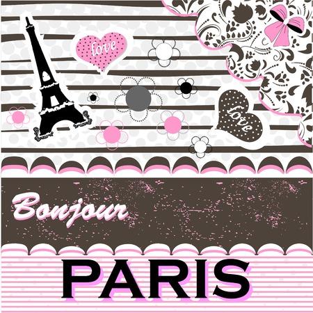cordial: Paris.Romantic greeting card