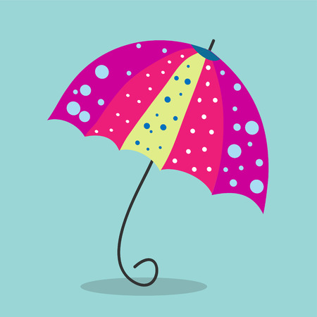 Multicolored umbrella-cane - a symbol of summer and holidays.