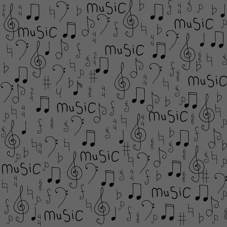 Patrón Sin Fisuras Con Unas Notas Musicales Ilustración Del Vector