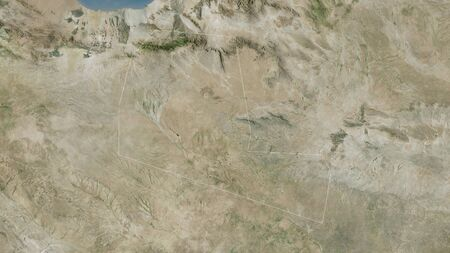 Togdheer, region of Somalia. Satellite imagery. Shape outlined against its country area. 3D rendering