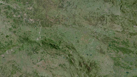 Lower Silesian, voivodeship of Poland. Satellite imagery. Shape outlined against its country area. 3D rendering Stock fotó