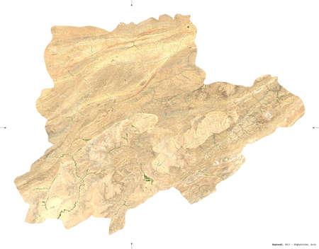 Daykundi, province of Afghanistan. isolated on white. Reklamní fotografie