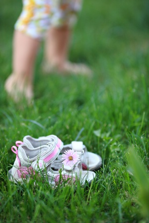 Barefoot on a grass Stock Photo - 8786216