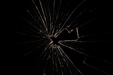 glasscherben: Zerbrochenes Glas auf schwarzem Hintergrund isoliert Lizenzfreie Bilder
