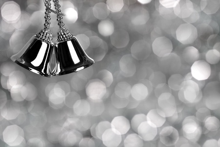silver bells: Silver Christmas card