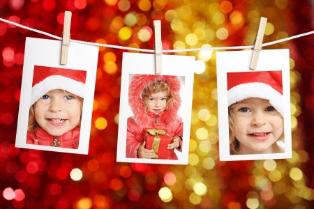 Photo of child against Christmas lights background Stock Photo - 10105622
