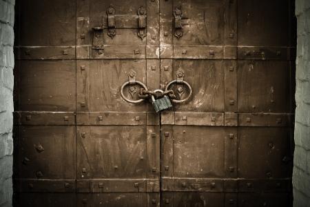doorlock: Old metal gate  Abstract background