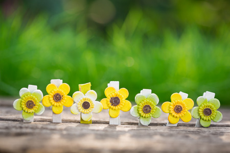 Floral decorations outdoors. Easter holidays concept photo