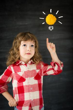 Smart kid in class. Idea concept