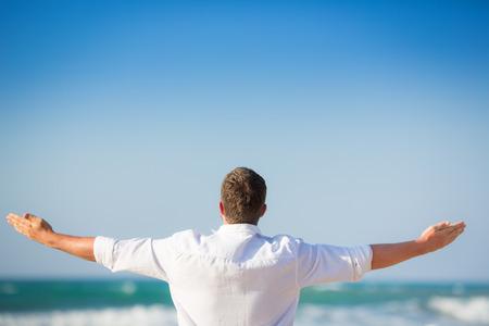 자유와 여름 휴가 개념