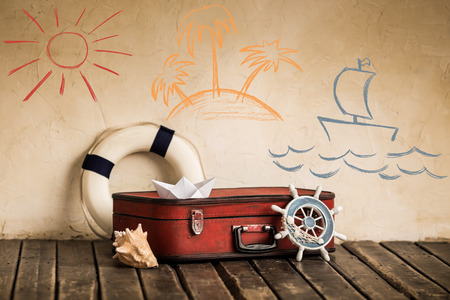 resor: Sommarresa och semesterkoncept Stockfoto