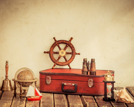 tronco: Aventura y el concepto de viaje Foto de archivo