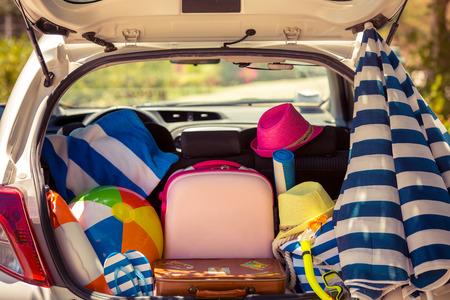 Sommerurlaub. Auto-Reise-Konzept
