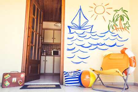 Summer house. Travel and vacation concept