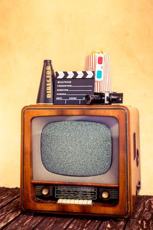 retro tv: Retro TV with blank screen Stock Photo