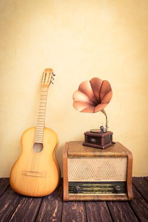 Vintage radio. Retro music concept Stock Photo