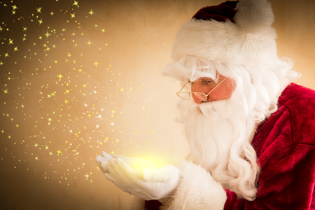 Santa Claus magic. Christmas holiday concept Banco de Imagens