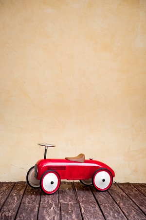 Vintage red toy children car