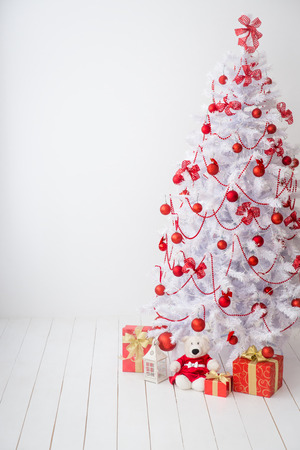 tree decorations: Christmas tree with decorations. Xmas holiday concept