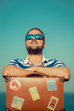 man with glasses: Travel Stock Photo