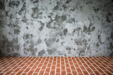 interior spaces: Grunge loft interior. Copy space