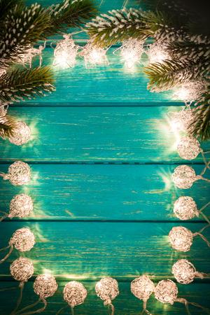 decoracion mesas: Christmas Xmas Lights Frame Border