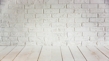 interior spaces: White wall and floor. Home renovation concept Stock Photo