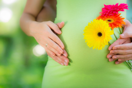 Belly of pregnant woman. Mothers day concept Stock Photo