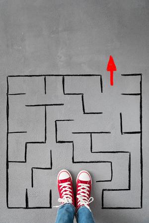 Labyrinth. Success, creative and idea concept