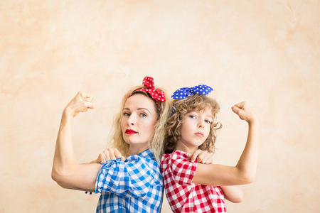 We can do it!  Womans day. 8 March. Spring holiday concept.