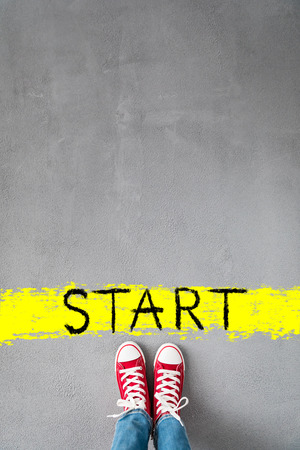 Start! Healthy lifestyle concept