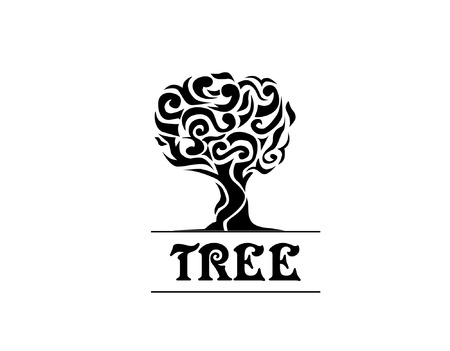 grotesque: artistic and elegant tree good for illustration