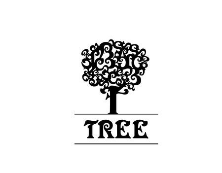 grotesque: elegant and artistic vector oak tree for  illustration