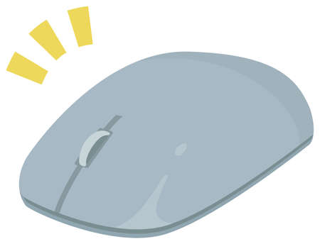 Stylish compact mouse 向量圖像