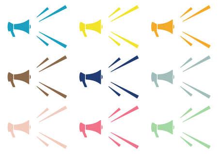Colorful Loudspeaker Set