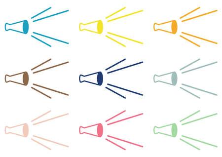 Colorful megaphone set