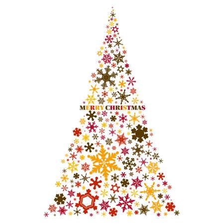 Snow Crystal Christmas Tree Material01  イラスト・ベクター素材