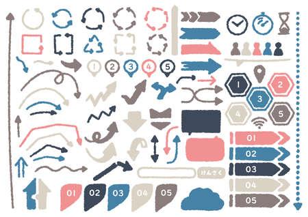 Hand-painted Infographic Set 1  イラスト・ベクター素材