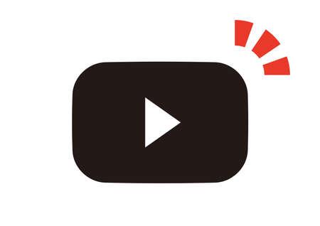 Simple video playback icon 일러스트