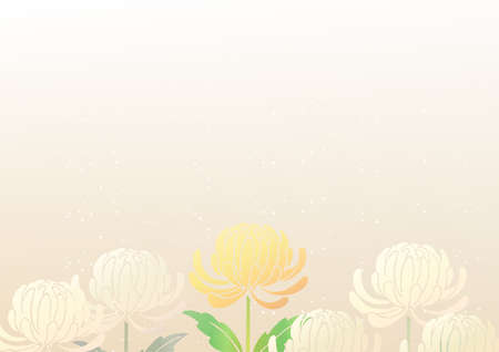 Japanese-style background with chrysanthemum flowers