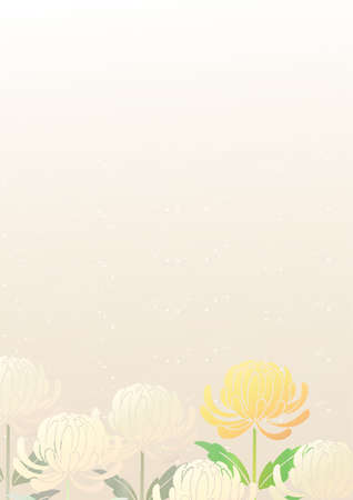 Japanese-style background with chrysanthemums