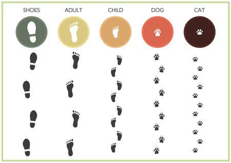 Material set of various footprints