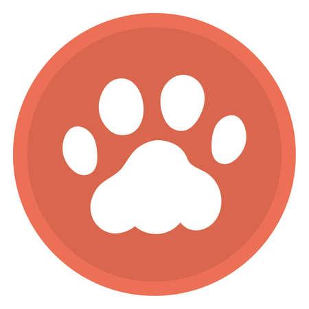 Material illustration of cat footprints